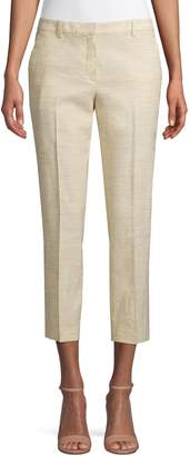 Theory Linen-Blend Crunch Trousers