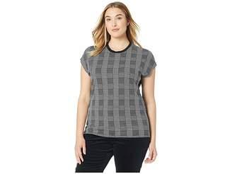 Lauren Ralph Lauren Plus Size Plaid Jersey T-Shirt