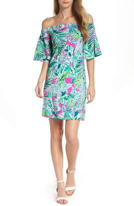 Lilly Pulitzer R) Fawcett Off the Shoulder Dress