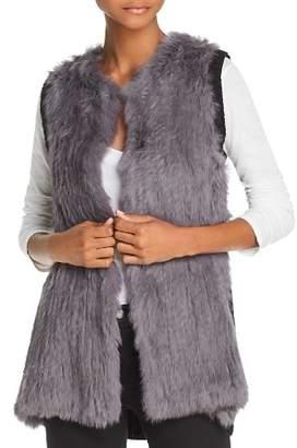 525 America Knit-Back Real Rabbit Fur Vest