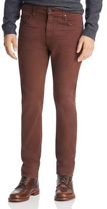 7 For All Mankind Adrien Slim Fit Jeans in Blackened Burgundy