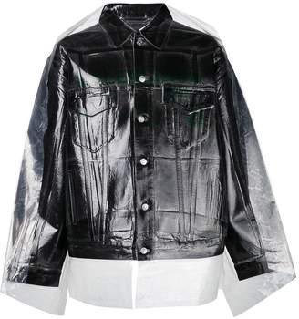 Balenciaga dry clean big denim jacket