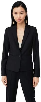 MANGO Black 'Boreal' Suit Blazer
