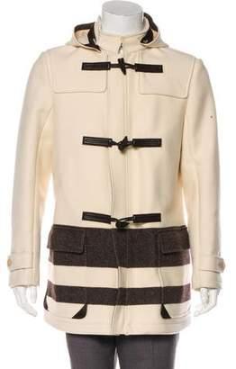 Salvatore Ferragamo Virgin Wool Hooded Coat