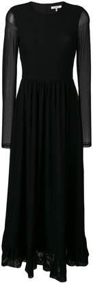 Ganni polka dot long dress