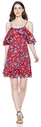Peace Love Maxi Women's Off Shoulder Floral Print Knee Length Short Dress