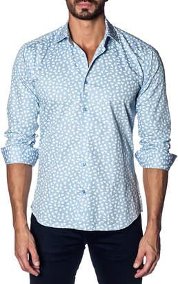 Jared Lang Heart-Print Sport Shirt