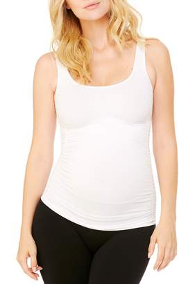 Ingrid & Isabel R) Seamless Ruched Maternity Tank