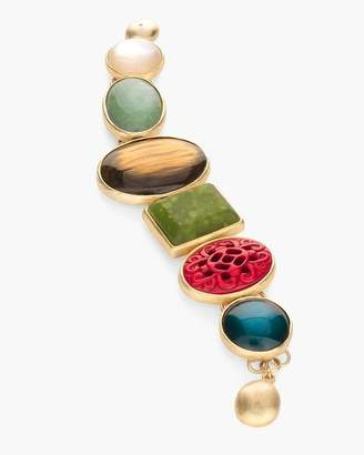 Multi-Colored Stone Magnetic Bracelet