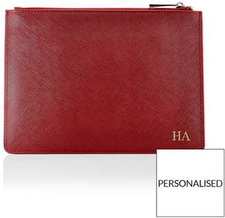 HA Designs Personalised Initial Pouch Berry Bag