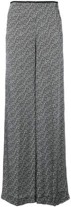 Pt01 printed wide-leg trousers