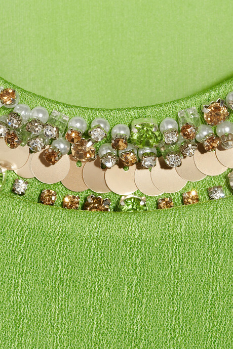 3.1 Phillip Lim Embellished crepe and silk-chiffon top