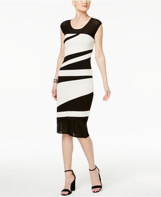 RACHEL Rachel Roy Optic Midi Sheath Dress $149 thestylecure.com