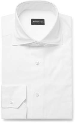 Ermenegildo Zegna White Cotton Oxford Shirt