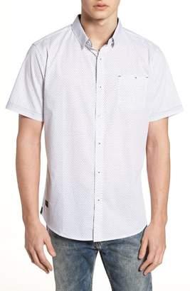 7 Diamonds Lights of Home Slim Fit Short Sleeve Sport Shirt