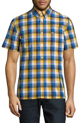 Lacoste Striped Short-Sleeve Sport Shirt