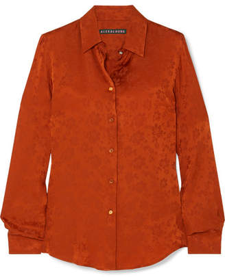 ALEXACHUNG Satin-jacquard Shirt - Orange