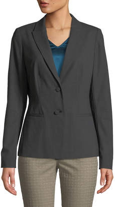 Lafayette 148 New York Mabel Two-Button Suiting Jacket, Gray