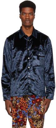Paul Smith Navy Velvet Tailored Shirt
