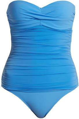 Body bandeau control ruched swimsuit