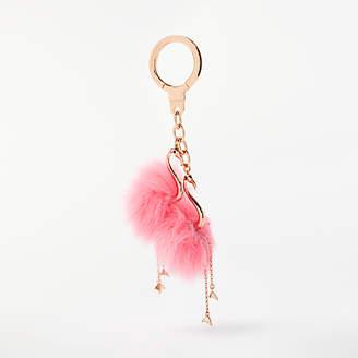Kate Spade Flamingo Flock Keyring, Pink/Gold