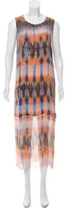 Raquel Allegra Silk Tie-Dye Dress w/ Tags