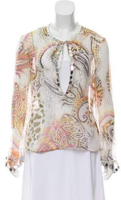 Just Cavalli Embellished Long Sleeve Top