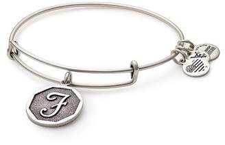 Alex and Ani Initial 'F' Charm Expandable Wire Bracelet