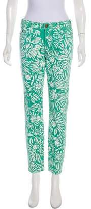 Current/Elliott DVF Loves Mid-Rise Floral Jeans