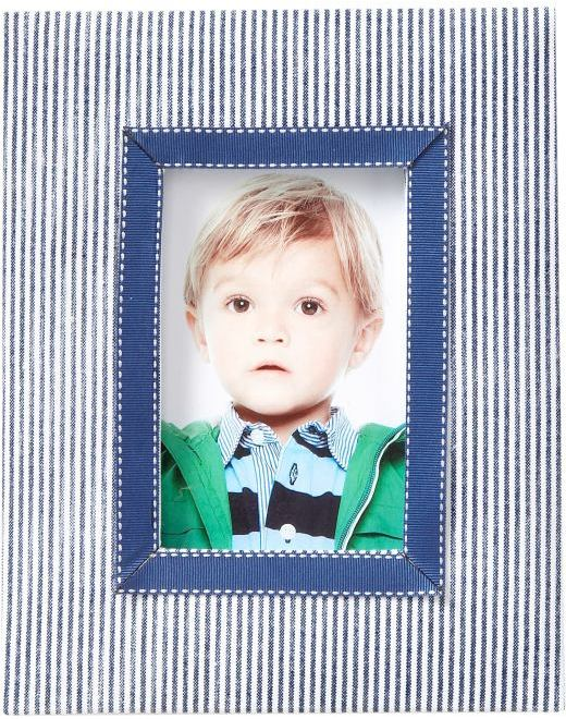 Large striped picture frame