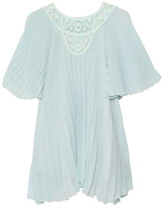 Chloé Pleated Crepe Couture Dress