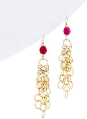Devon Leigh 18K Over Silver Ruby Earrings