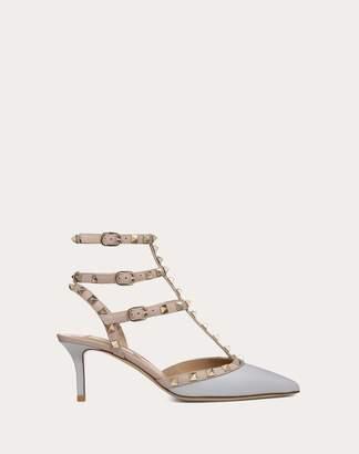 Valentino Garavani Rockstud Calfskin Ankle Strap Pump 65 Mm Women Light Grey Calfskin 100% 35
