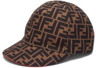 Fendi Ff Logo Printed Canvas Cap - Womens - Brown bbb4b47e7