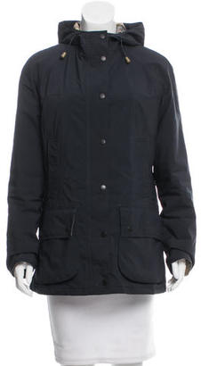 Barbour Lightweight hooded Jacket $195 thestylecure.com