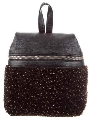 9912b88c0 Kara Leather-Trimmed Bouclé Backpack