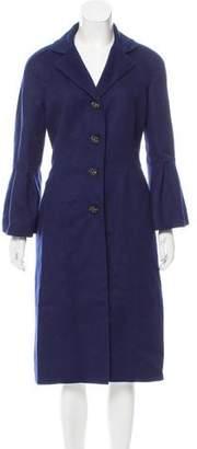 Oscar de la Renta Jewel-Embellished Longline Coat