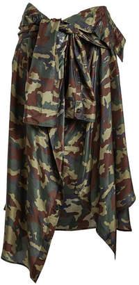 Faith Connexion Printed Silk Skirt