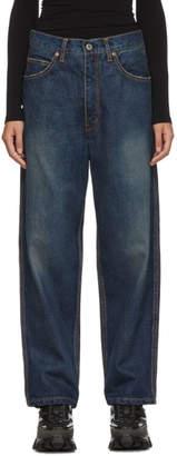 Junya Watanabe Indigo Vintage Treated Washed Jeans