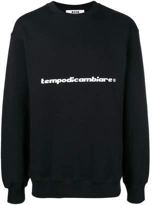 MSGM slogan print sweatshirt