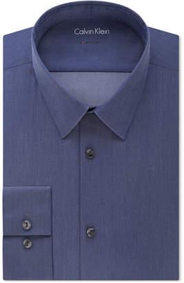 Calvin Klein X Men's Tall Extra-Slim Fit Stretch Denim Dress Shirt $75 thestylecure.com