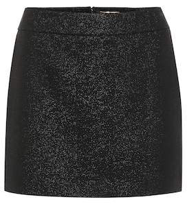 Saint Laurent Wool-blend miniskirt