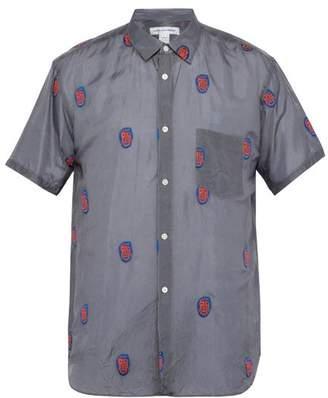 Comme des Garcons Mask Embroidered Shirt - Mens - Grey