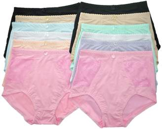 Angelina 12-Pack Comfort High-Waisted Double Lace Pockets Girdles _12_3XL