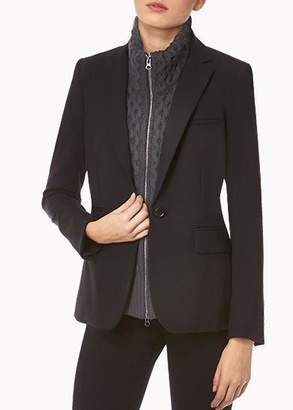 Veronica Beard Black Classic Jacket With Charcoal Knit Upstate Dickey