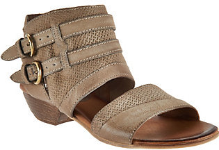 As Is Miz Mooz Leather Double Buckle Sandals - Cyrus $96.95 thestylecure.com