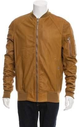 Rick Owens 2017 Leather Bomber Jacket
