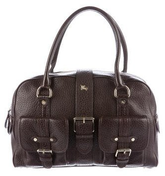 Burberry Burberry Textured Leather Handle Bag