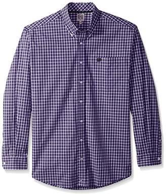 Cinch Men's Classic Fit Long Sleeve Button One Open Pocket Plaid Shirt