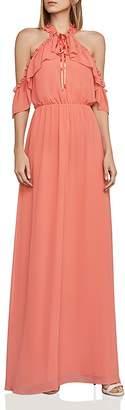 BCBGMAXAZRIA Tracie Cold-Shoulder Gown